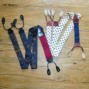Two Pairs Of Mens Braces/Suspenders Trafalgar